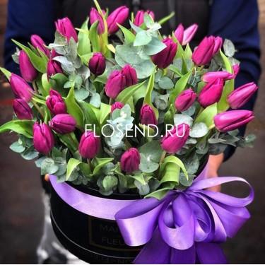 Цветы в коробке № 178